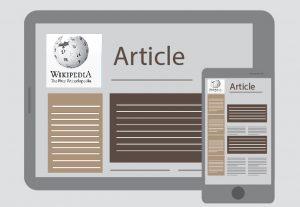 Article PUBLISHING on Wikipedia website